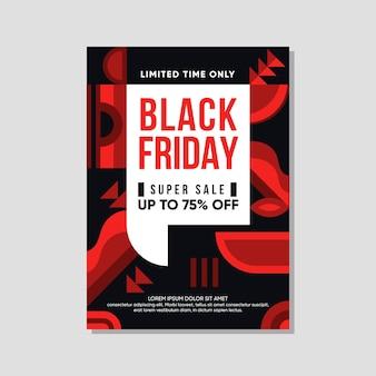 Modello di volantino venerdì nero