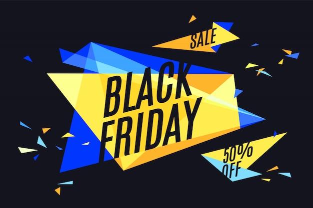 ブラックフライデーの販売。幾何学的なグラフィックデザイン。