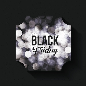 Black friday frame and blurred lights icon
