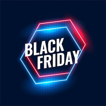 Black friday geometric neon background