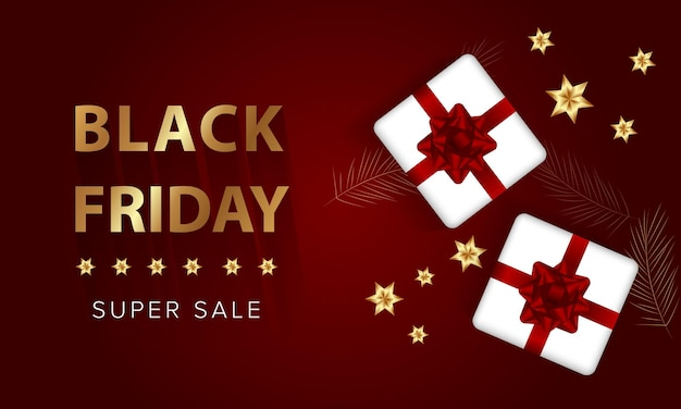 Black friday, gifts balloons. discount banner, vector illustration