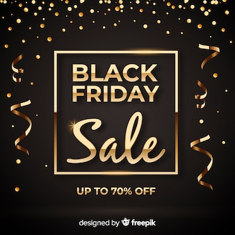 Black friday golden background