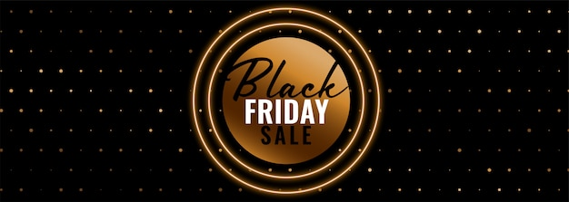 Black friday golden sale banner template