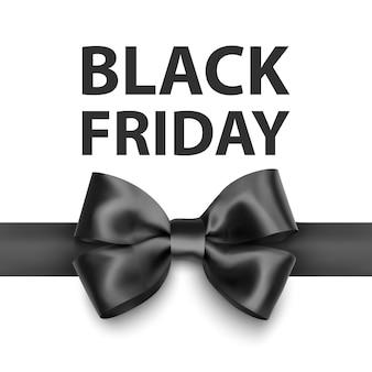 大きな黒い弓が付いたブラックフライデーのグリーティングカードあなたのデザインのテンプレートホリデーカード