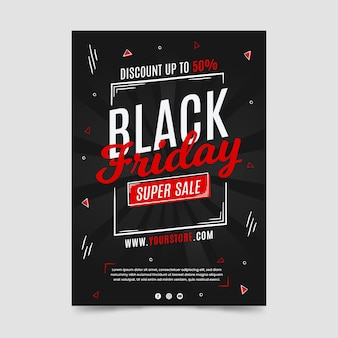 Black friday hand drawn super sale flyer