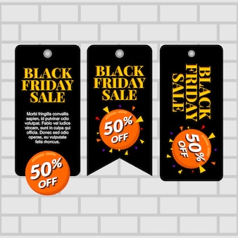 Black friday hang tag sale banner