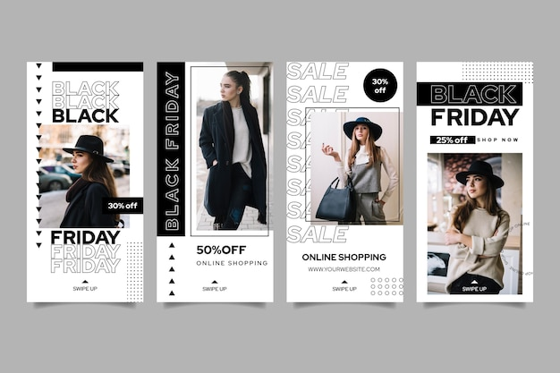 Black friday ig stories collection