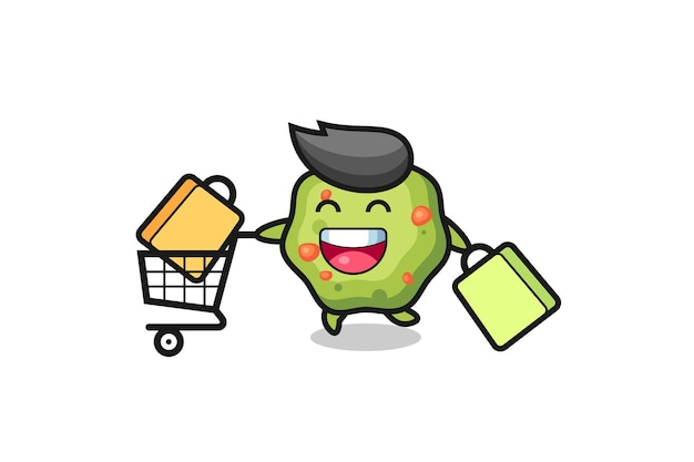 Black friday illustration with cute puke mascot , cute style design for t shirt, sticker, logo element
