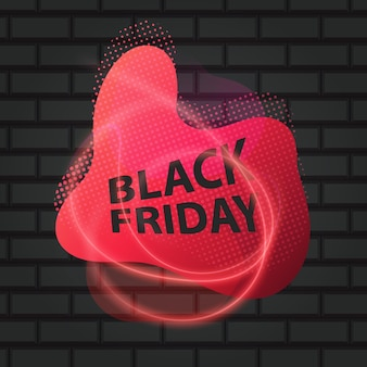 Черная пятница надпись на фоне кирпича. концепция продажи, оформления и скидки