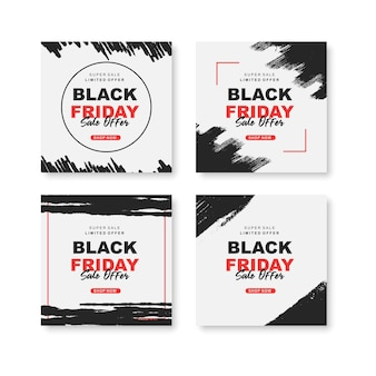Черная пятница instagram post collection a