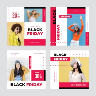 Black friday instagram posts template