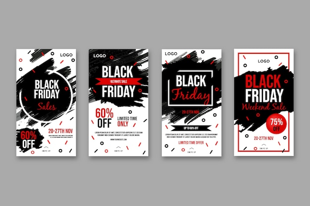 Raccolta di storie di instagram del black friday