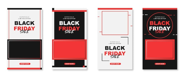 Black friday instagram stories collection a