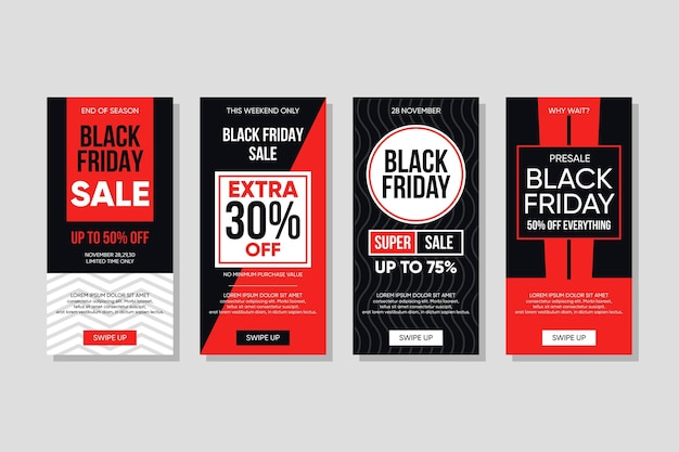 Black friday instagram stories pack