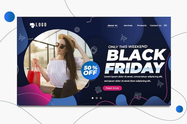 Black friday landing page
