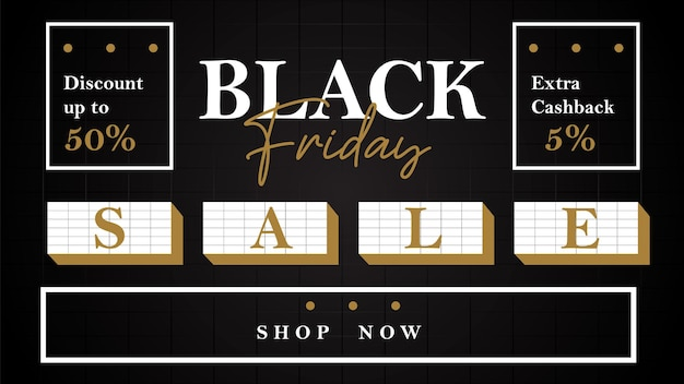ブラックフライデーの風景バナーレトロスタイルの特別版の販売