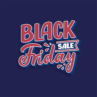 Black friday lettering in modern calligraphy style. slogan for promotion template and sale banner.