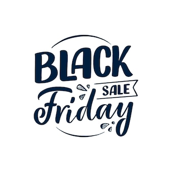 Black friday lettering in modern calligraphy style. slogan for promotion template and sale