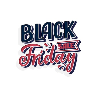 Black friday lettering in modern calligraphy style.
