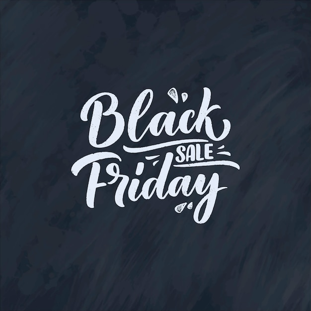 Black friday lettering in modern calligraphy style