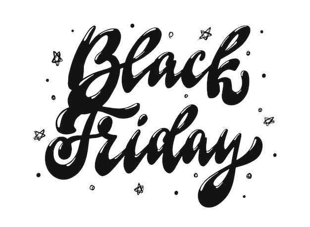 Black friday lettering quote