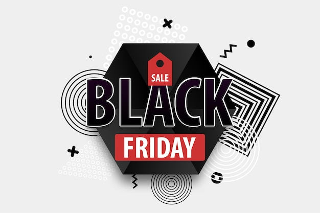 Black friday light modern minimalistic hipste trendy background comic text discount  tag