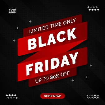 Black friday limited offer  banner design