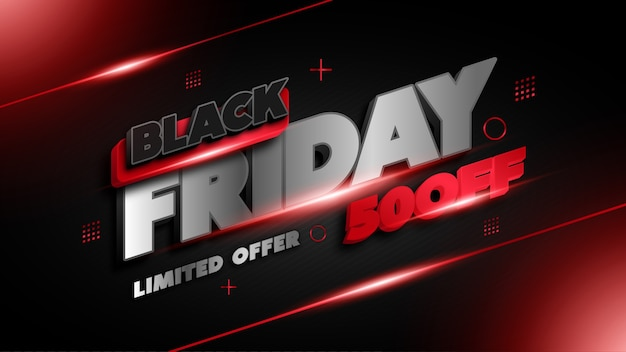 Black friday limited offer banner