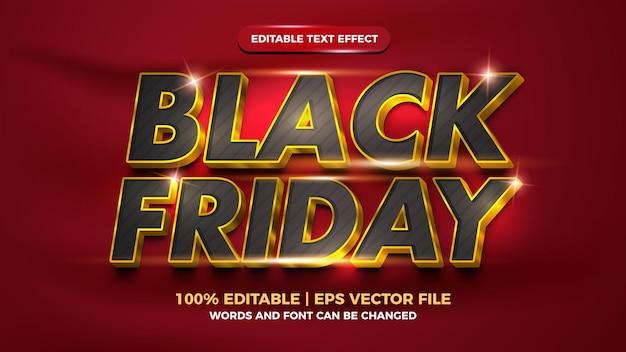 Black friday luxury gold editable text effect