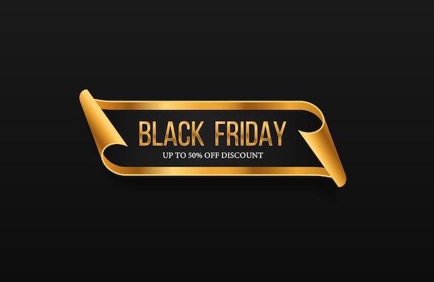 Черная пятница роскошные продажи баннер золотой текст надписи продажа баннер плакат логотип