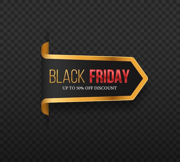 Черная пятница роскошь распродажа баннер золотой текст надписи распродажа баннер плакат логотип