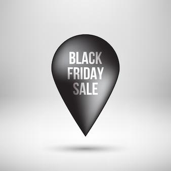 Black friday map pointer
