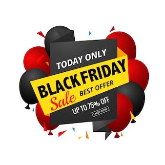 Black friday modern sale banner