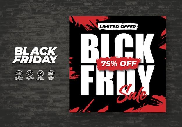Black friday modern sale flat design banner template