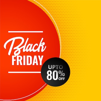 Black friday modern sale yellow banner