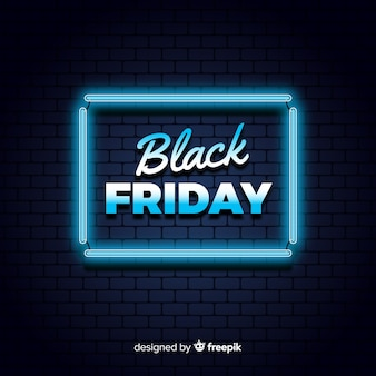 Black friday neon background