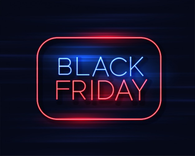 Black friday neon sign background