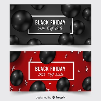 Black friday neon sign banner