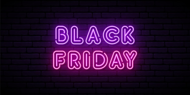 Black friday neon sign.