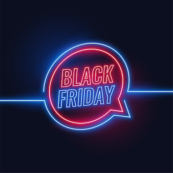 Black friday neon style lights background