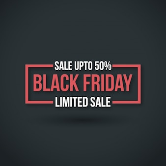 Black friday. new simple typography on black background