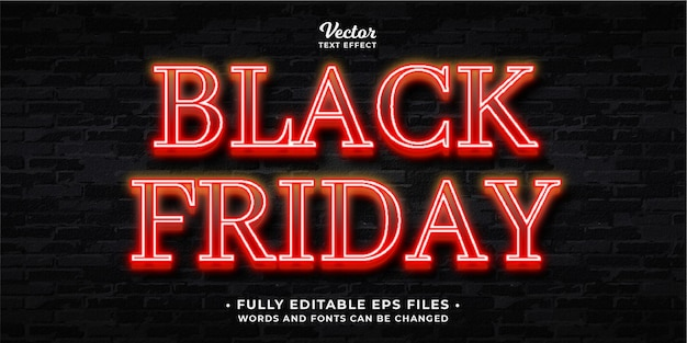Black friday night event text effect editable eps cc words and fonts can be changed