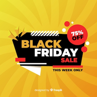 Black friday offer in flat design