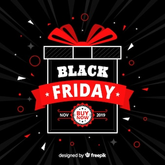 Black friday offer in flat design