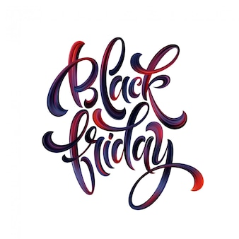 Black friday paint hand writting calligraphy lettering.