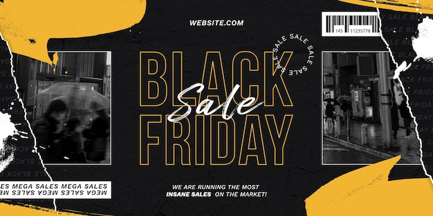 Black friday paper style background