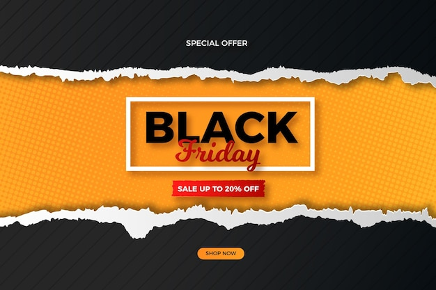 Black friday in paper style