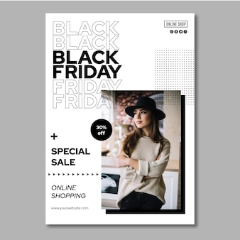 Black friday poster a4