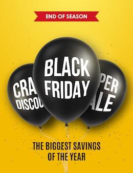Black friday poster or banner design.