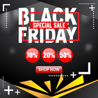Black friday poster and banner illustration